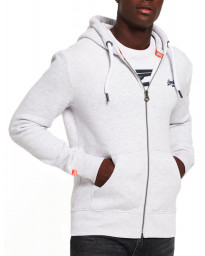 Superdry Orange Label Zip Up Hoodie Ice Marl | Jean Scene