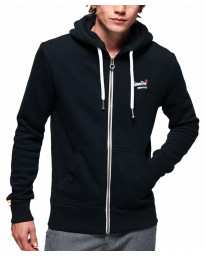Superdry Orange Label Zip Up Hoodie Eclipse | Jean Scene