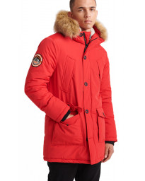 Superdry Everest Parka Jacket Deep Berry | Jean Scene