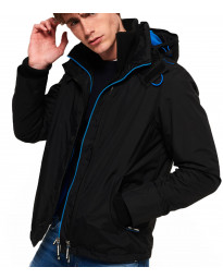 Superdry Popzip Arctic Hooded Jacket Black | Jean Scene