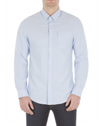 Ben Sherman Casual Men's Long Sleeve Oxford Shirt Dusk Blue | Jean Scene