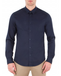 Ben Sherman Stretch Men's Long Sleeve Poplin Shirt Navy Blazer | Jean Scene