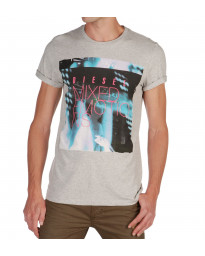 Diesel T-Mix Emotion Crew Neck Print T-shirt Grey