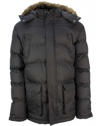 Soul Star Winter Padded Puffer Jacket Black | Jean Scene