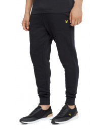 Lyle & Scott Men's Skinny Logo Jogging Bottoms Black | Jean Scene