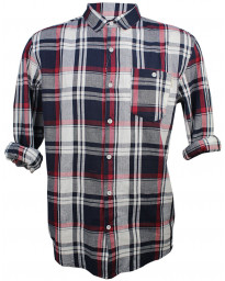 Soulstar Casual Check Shirt Long Sleeve Red | Jean Scene