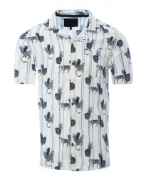 Soulstar Print Hawaiian Object Shirt Short Sleeve White | Jean Scene