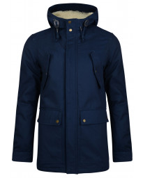 Ringspun Long Jacket Navy | Jean Scene