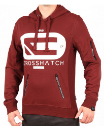 Crosshatch Overhead Men's Netlock Hoodie Deep Red | Jean Scene