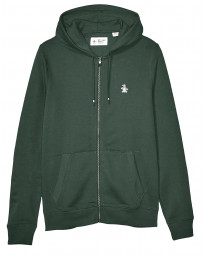 Original Penguin Full Zip Logo Hoodie Darkest Spruce | Jean Scene