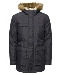 Only & Sons Parka Padded Jacket Dark Navy | Jean Scene