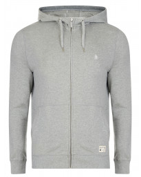 Original Penguin Men's Casual Hooded Sweatshirt Rain Heather | Jean Scene