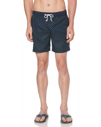 Original Penguin Men's Star Print Elastic Volley Swim Shorts Dark Sapphire | Jean Scene