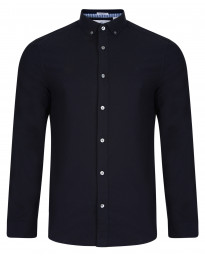 Original Penguin Oxford Shirt Long Sleeve Dark Sapphire | Jean Scene