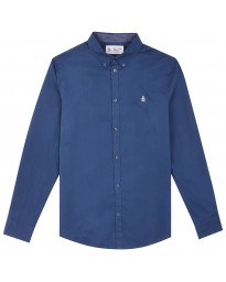Original Penguin Polin Shirt Long Sleeve Dark Denim | Jean Scene