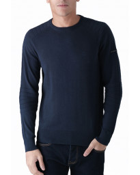 Duck and Cover Crew Neck Cotton Portofino Jumper Deep Navy | Jean Scene