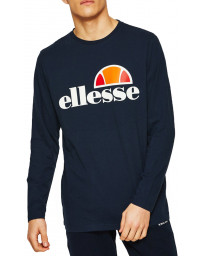 Ellesse Long Sleeve Henley Top Navy | Jean Scene