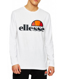 Ellesse Long Sleeve Henley Top White | Jean Scene