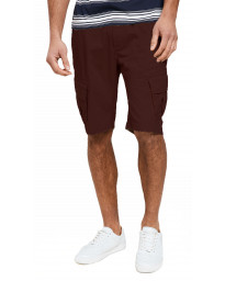 Threadbare Chino Cargo Bermuda Shorts Burgundy | Jean Scene