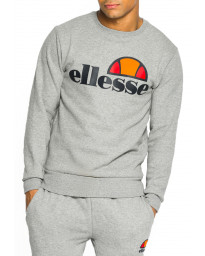 Ellesse Men's Succiso Logo Crew Neck Sweatshirt Athletic Grey Marl | Jean Scene