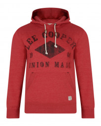 Lee Cooper Overhead Men's Tadworth Hoodie Red | Jean Scene