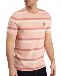Lyle & Scott Crew Neck Short Sleeve T-Shirt Coral Way | Jean Scene