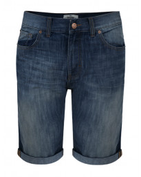 Threadbare Men's Slim Fit Denim Jean Shorts Dark Wash Blue | Jean Scene