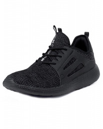 Crosshatch Mens Turbo Canvas Shoes Trainers Black | Jean Scene