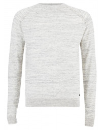Threadbare Crew Neck Cotton Knit Jumper Light Grey | Jean Scene
