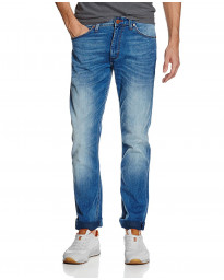 Wrangler Greensboro Modern Straight Denim Jeans Blown Away | Men's Wrangler Jeans | Jean Scene