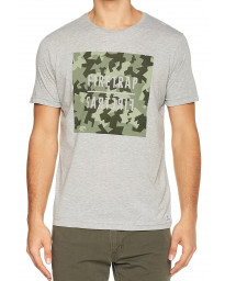 Firetrap Yakona Crew Neck Cotton Printed T-shirt Grey Marl | Jean Scene