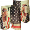 Soul Star Swim Beach Shorts Hot Girl American Flag Print