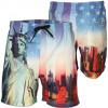 Soul Star Swim Beach Shorts New York Statue Liberty Print