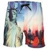Soul Star Beach Swim Shorts New York Statue Liberty Image