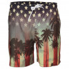Soul Star Beach Swim Shorts American Flag Sunset Strip Image