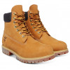 Timberland Mens Premium 6 Inch Leather High Boots Boots Wheat Yellow | Jean Scene