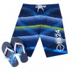 Smith & Jones Swim Beach Shorts & Flip Flop Set Stripe Navy Blue