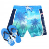 Smith & Jones Beach Swim Shorts & Flip Flop Set Kokomo Green