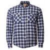 Tokyo Laundry Lined Check Shirt Navy Blue Image