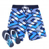 Smith & Jones Beach Swim Shorts & Flip Flop Set Latitude Navy