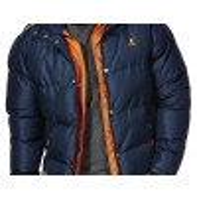 Kangol Men's Hooded Padded Winter Jacket Navy Blue