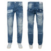 Rawcraft Loose Fit Denim Jeans Mid Stonewash