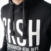 Crosshatch Overhead Men's Birchtree Hoodie Jet Black | Jean Scene