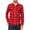 Lee Button Down Check Shirt Long Sleeve Warp Red | Jean Scene