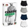Fruit Of The Loom Men's Boxer Shorts Grey & Grey - 2 Pack