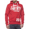 Superdry Overhead Men's Ticket Type Hoodie Rich Scarlet Marl | Jean Scene