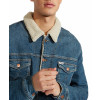 Wrangler Sherpa Fur Denim Jacket Green Room | Jean Scene