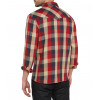 Wrangler Western Men's Long Sleeve Check Shirt Red | Jean Scene