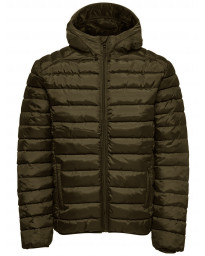 Only & Sons Puffer Liner Quilt Jacket Olive Night   Jean Scene