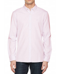 French Connection Oxford Long Sleeve Shirt Sure Pink   Jean Scene